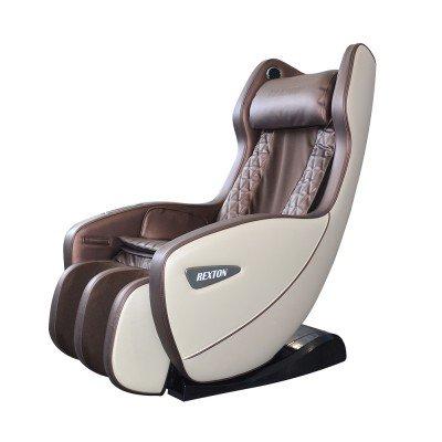 Scaun de masaj RK-1900B-BR cu dimensiuni compacte și Bluetooth - Maro