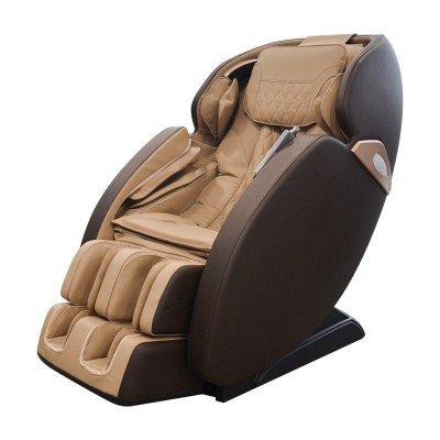 Scaun de masaj REXTON S7 cu masaj în formă de SL și boxe Bluetooth - maro
