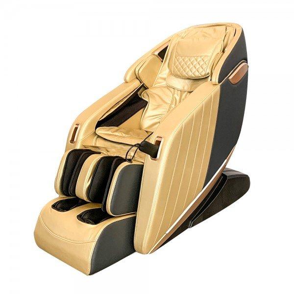 Scaun de masaj profesional REXTON Z1-GOLD cu masaj 3D, încălzire în infraroșu și Bluetooth